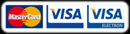 We accept MasterCard, Visa and Visa Electron